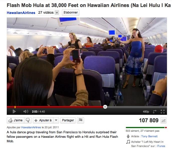 Un flashmob à 38 000 pieds !