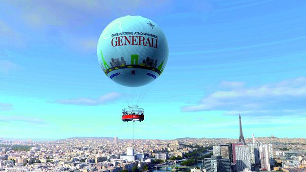 Ballon de Paris en vol / INFOTRAVEL.FR