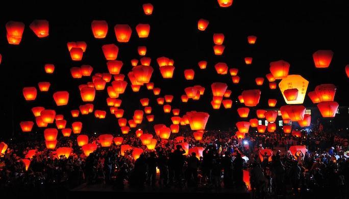 2 - Taïpei Lâcher de lanternes OT Taïwan 48