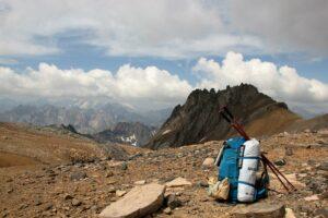 Pause durant l'ascension du Mont Thabor. Photo Fabienne Dupuis