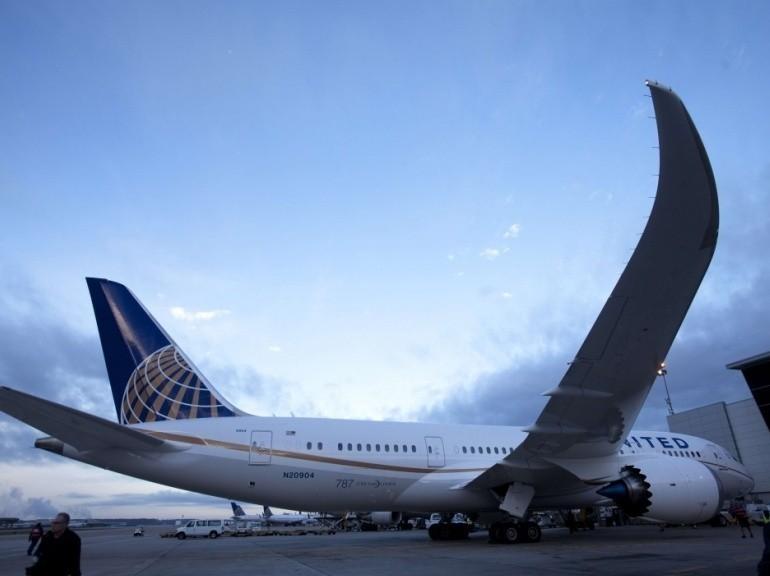 United Airlines (USA) est la seconde plus grosse Compagnie Aérienne au Monde en terme de flotte (nb d'avions) et la 1ère en nombre de sièges offerts au Km par semaine. Ici un Boeing 787-800 appelé aussi Dreamliner.