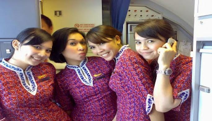 Beautiful Lion Air stewardesses