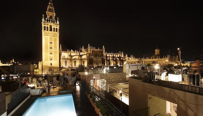 Terrasse du boutique hotel Eme catedral @Eme