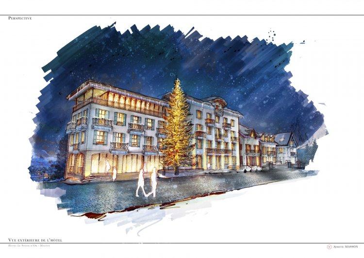 Megève, hotel, France, Montagne, Ski, neige