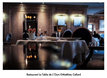 la table de l'Ours Val d'Isère, montagne, France, Gastronomie, Etoile