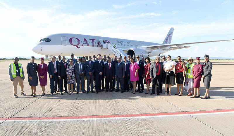 Qatar Airways, vol, plane, avion, Botswana