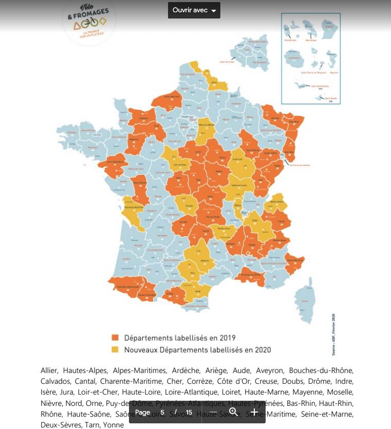 DECOUVRIR LA FRANCE ET SES FROMAGESA VELO