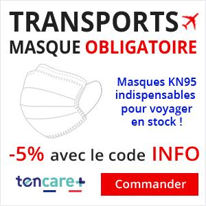 Masque KN95 pour avion