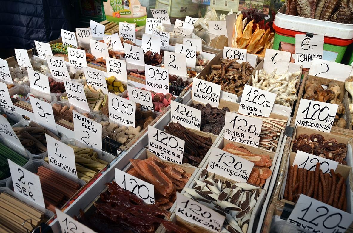 Pologne Cracovie marché alimentaire Stary Kleparz