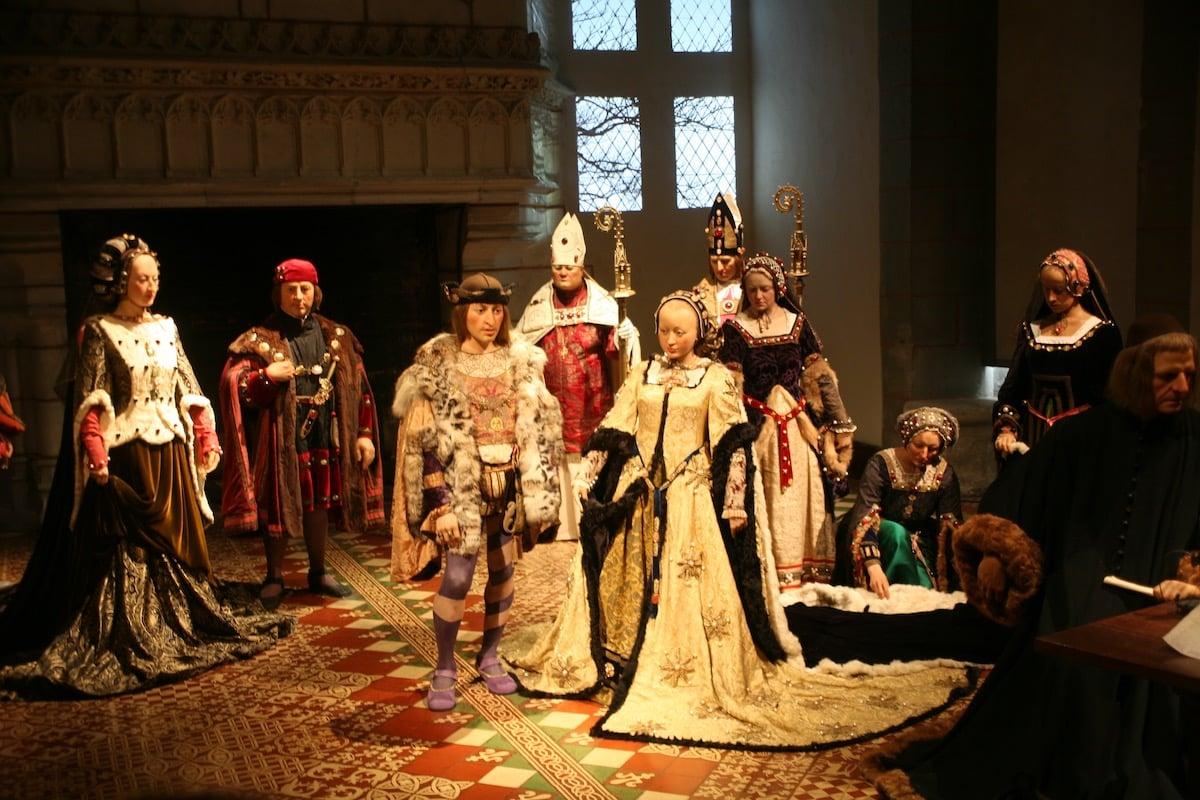 Charles VIII et Anne de Bretagne au château de Langeais jpg