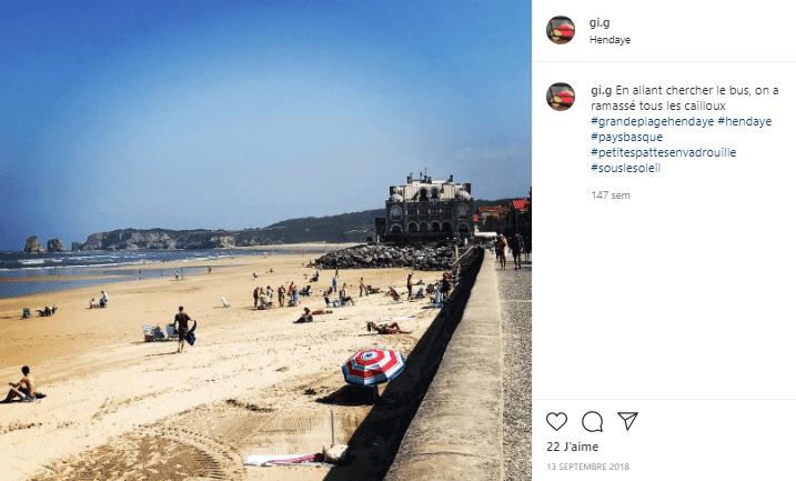 Grande plage d'Hendaye