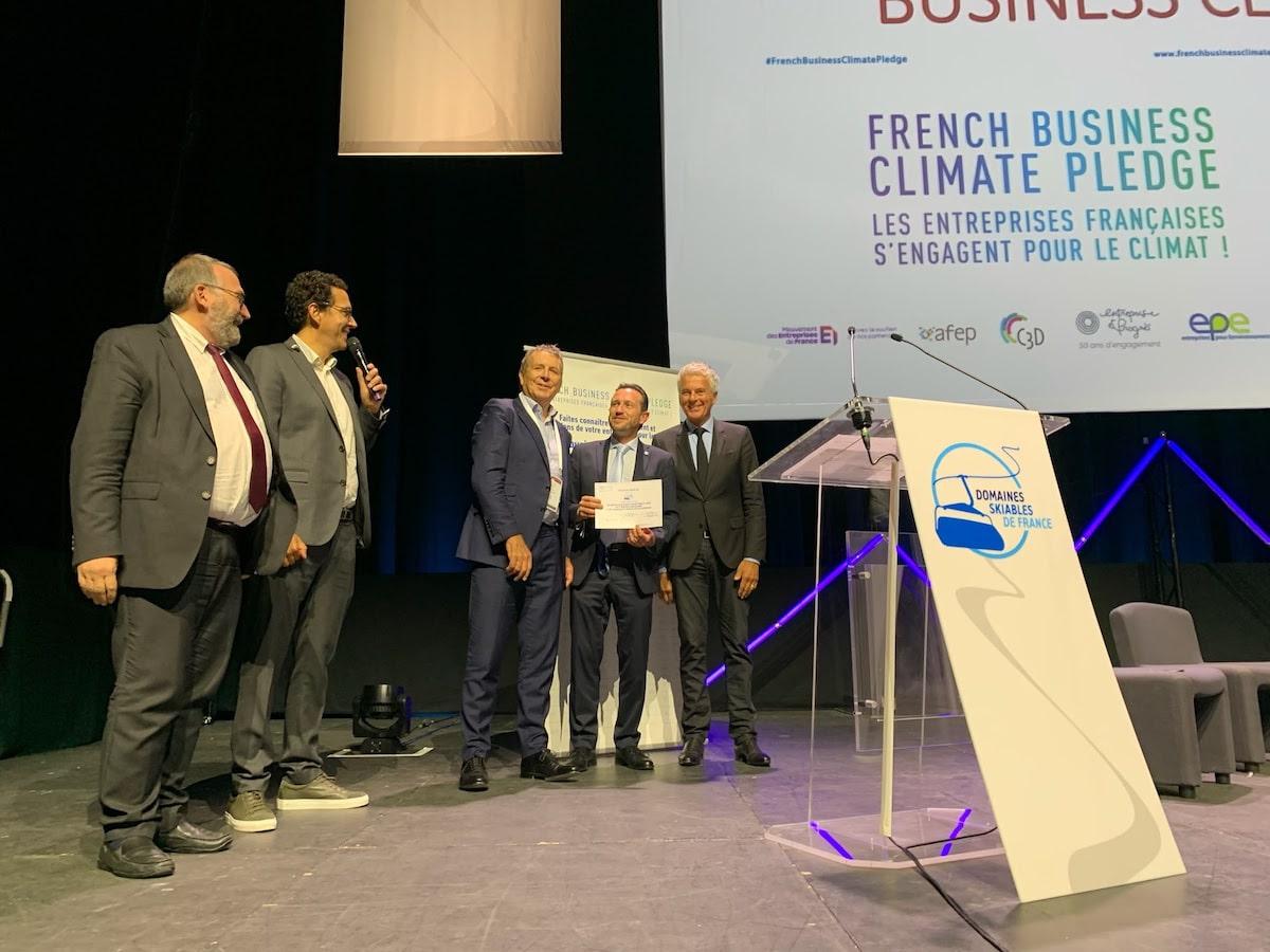 Lutte contre le réchauffement climatique :230 domaines skiables français rejoignent le French Business Climate Pledge